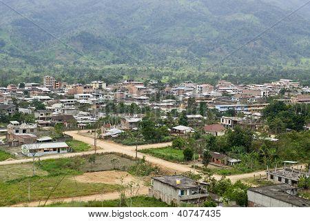View Of Yantzaza Ecuador