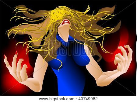 Woman In A Rage