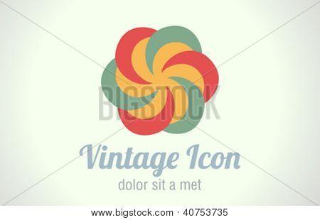 Vintage abstract infinity icon. Infinite circle shape. Vector. Retro.