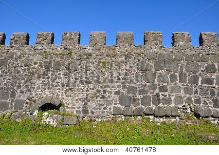 Section Of The Fortress Wall Of Gonio Fortress