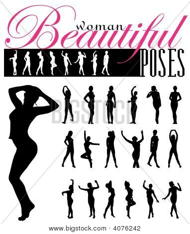 Woman Silhouettes Vector Illustration