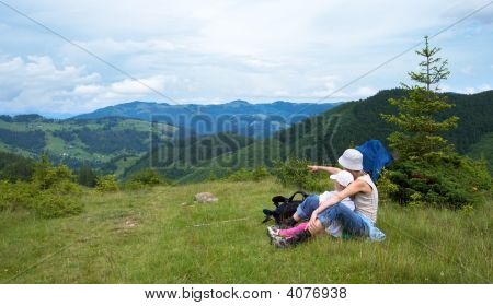 Family In Mountain