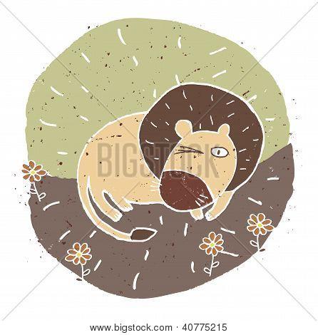lion vignette