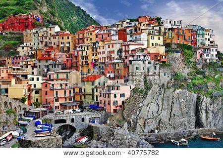 scenic Ligurian coast - Monarolla fishing village
