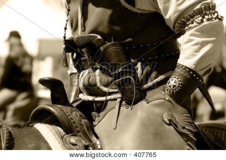 Old West Mounted Rider Vintage 2