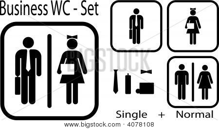 Office Wc Icon - Vector