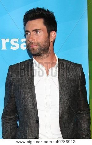 LOS ANGELES - JAN 6:  Adam Levine attends the NBCUniversal 2013 TCA Winter Press Tour at Langham Huntington Hotel on January 6, 2013 in Pasadena, CA