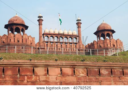 Red Fort is a 17th century fort complex constructed by the Mughal emperor Shah Jahan in the walled city of Delhi that served as the residence of the Imperial Family of India.