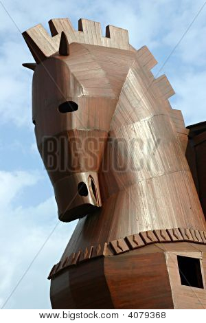 Close-Up Head Of The Trojan Horse