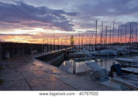 Desenzano Del Garda Marina Waterfront And The Lighthouse