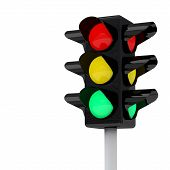Traffic lights, 3d