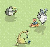 Постер, плакат: Животные весело