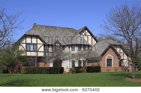 A Dream Home That Is Styled In A Half Timber Swiss Design. Nice Large Yard  With Mature Landscaping.