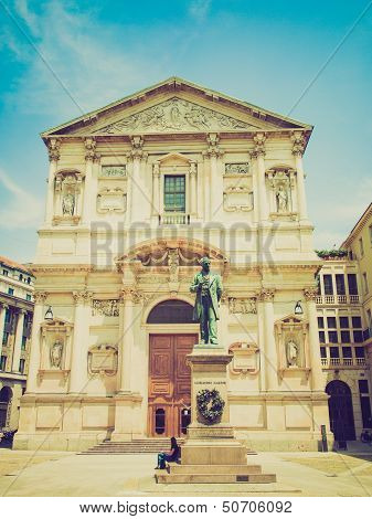 Retro Look San Fedele Church, Milan