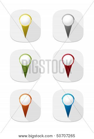 map pin icon buttons