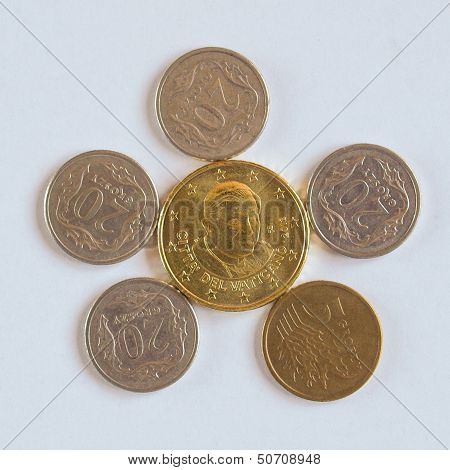 Euro Coin From Vatican