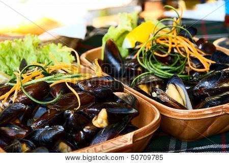 Mussels On The Plate