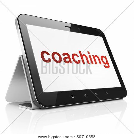 Education concept: Coaching on tablet pc computer