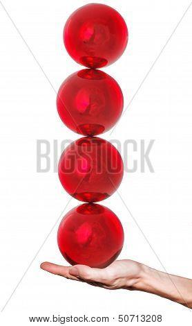 Balls On Hand Balancing