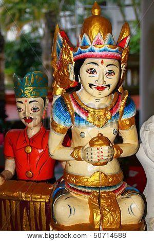 Traditional Javanese wood carvings