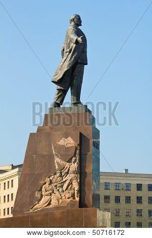 Statue Of Lenin In Kharkov