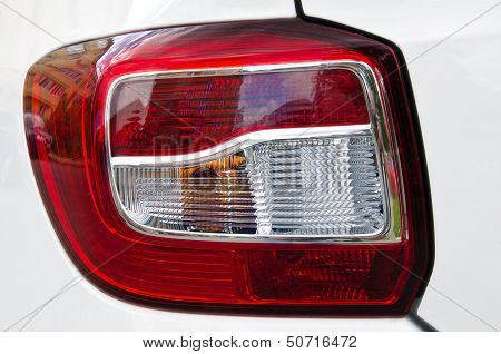Detail Of A Plastic Shiny  Modern Tail Light