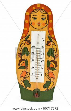 Babushka Doll With Thermometer