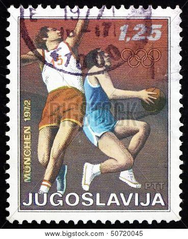 Postage Stamp Yugoslavia 1972 Basketball, Olympic Games, Munich