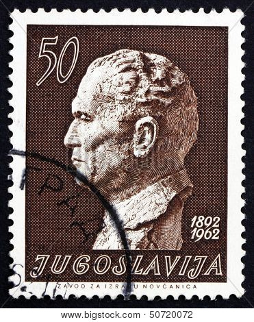 Postage Stamp Yugoslavia 1962 Marshal Tito By Augustincic