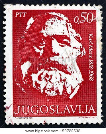 Postage Stamp Yugoslavia 1968 Karl Marx, Philosopher