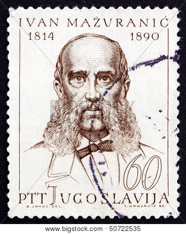 Postage Stamp Yugoslavia 1965 Ivan Mazuranic, Politician And Writer