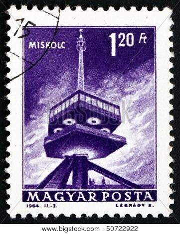 Postage Stamp Hungary 1964 Television Transmitter, Miskolc