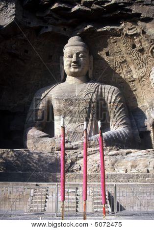 Buddhas In Yungang Caves,china