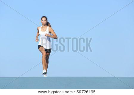 Runner Woman Running Alone