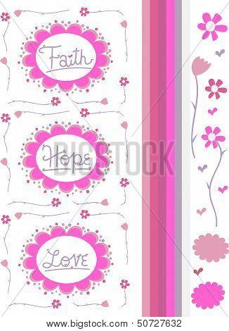 Faith Hope & Love Vector Drawings