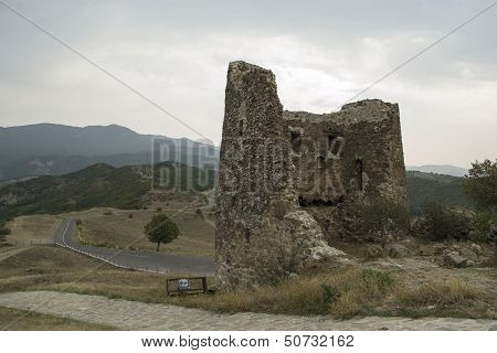 ruins of the fortress towers