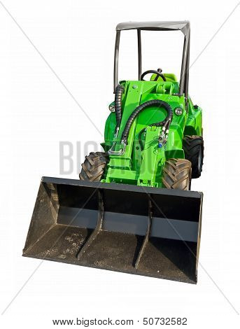 Small green tractor