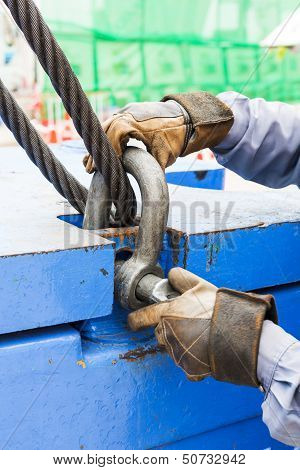Fitting Bolt Anchor Shackle With Wire Rope Sling