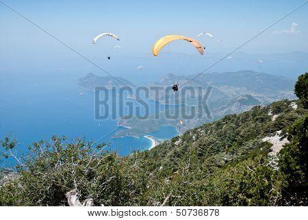 Oludeniz view from parachute, Fethiye, Turkey