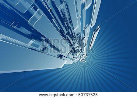 Blue Hi-tech Design