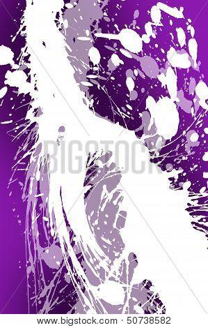 Purple White Splashes