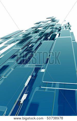 Glassy Blocks Background