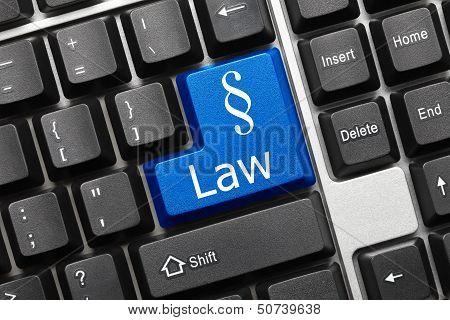 Conceptual Keyboard - Law (blue Key)