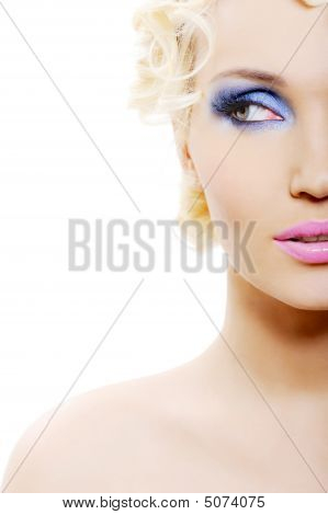 Bright Blue Make-up