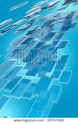 Abstract Glassy Blocks
