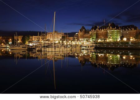 Inner Harbor Twilight, Victoria, British Columbia