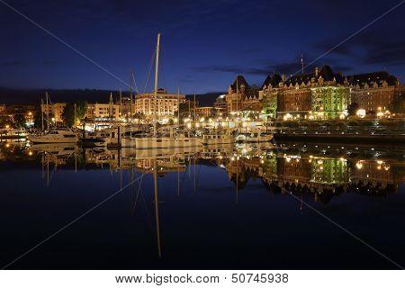 Inner Harbor Twilight, Victoria, British Columbia