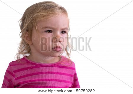Portrait Of A Unhappy Toddler