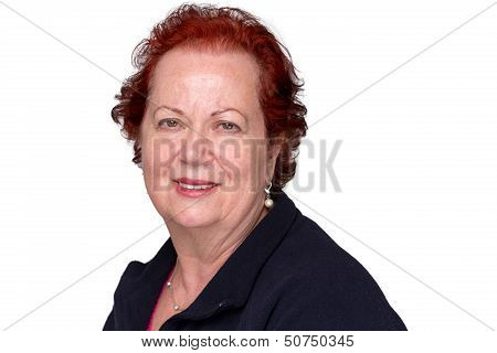 Red Hair Senior Woman