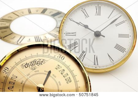 Clock And Barometer Dials Or Bezels